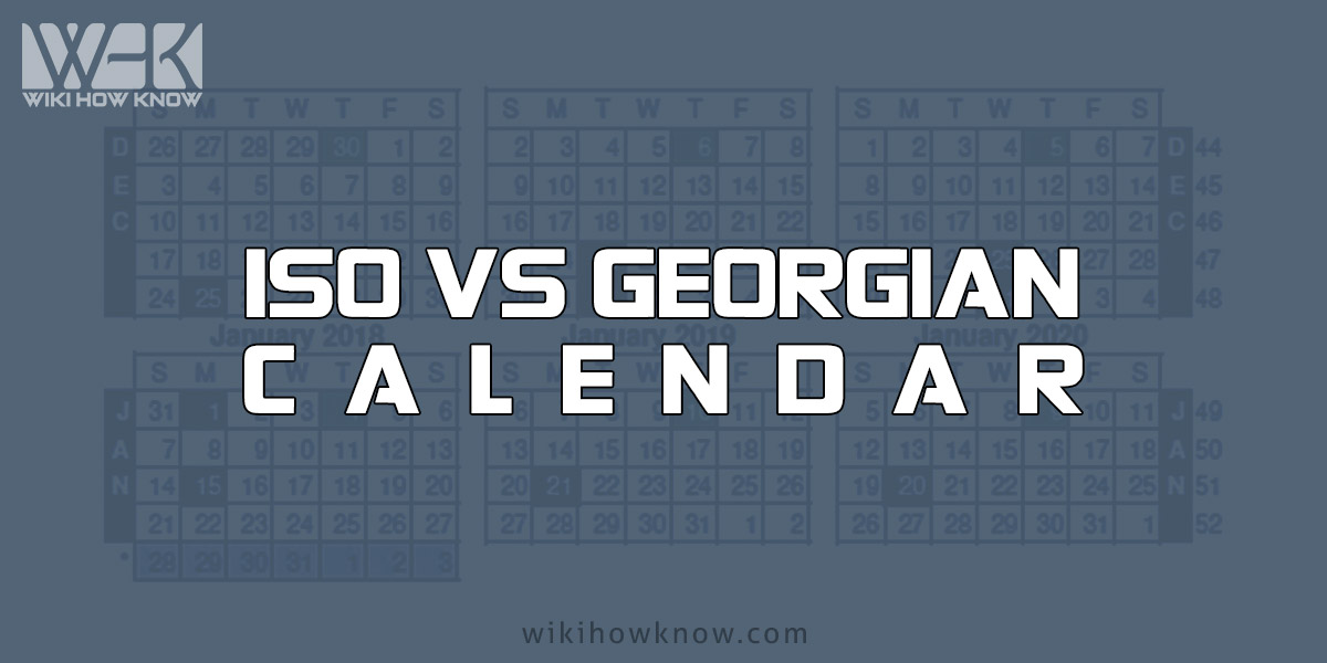 ISO VS Georgian Calendar