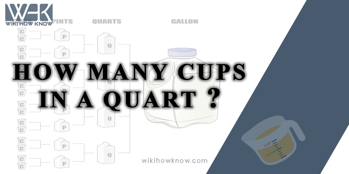 How Many Cups in a Quart