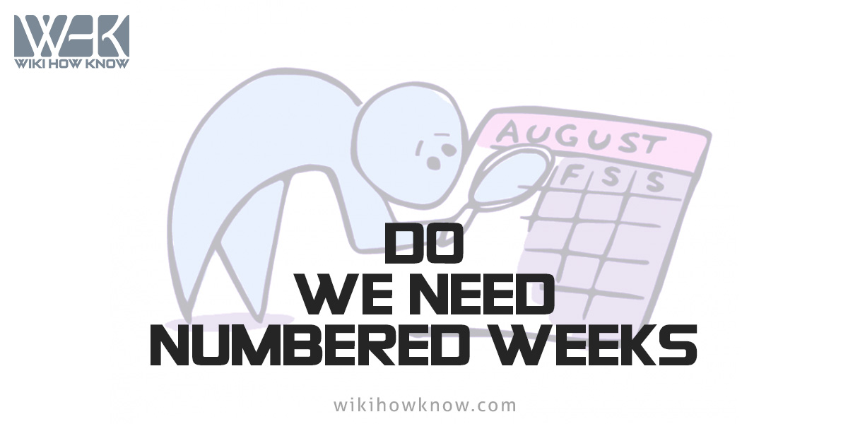 Where do we need numbered weeks