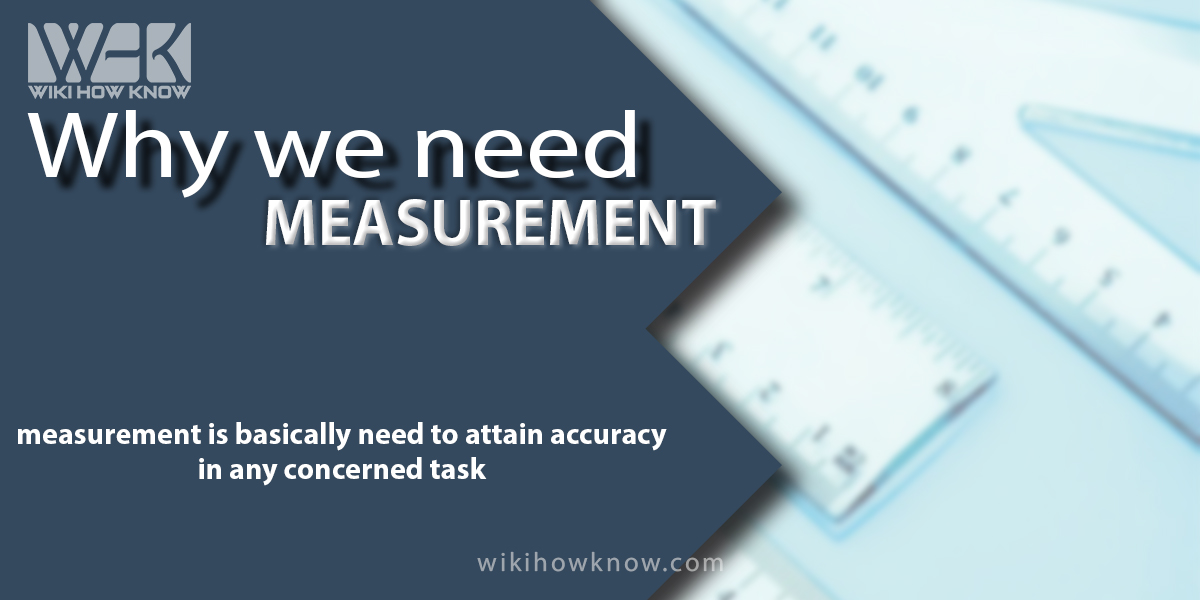 Why we need measurement?